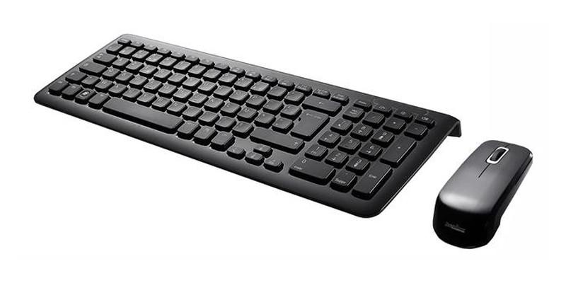 set draadloos rf toetsenbord muis hoogglans zwart