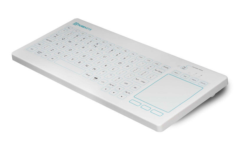 PureKeys Compact Touch toetsenbord, wit